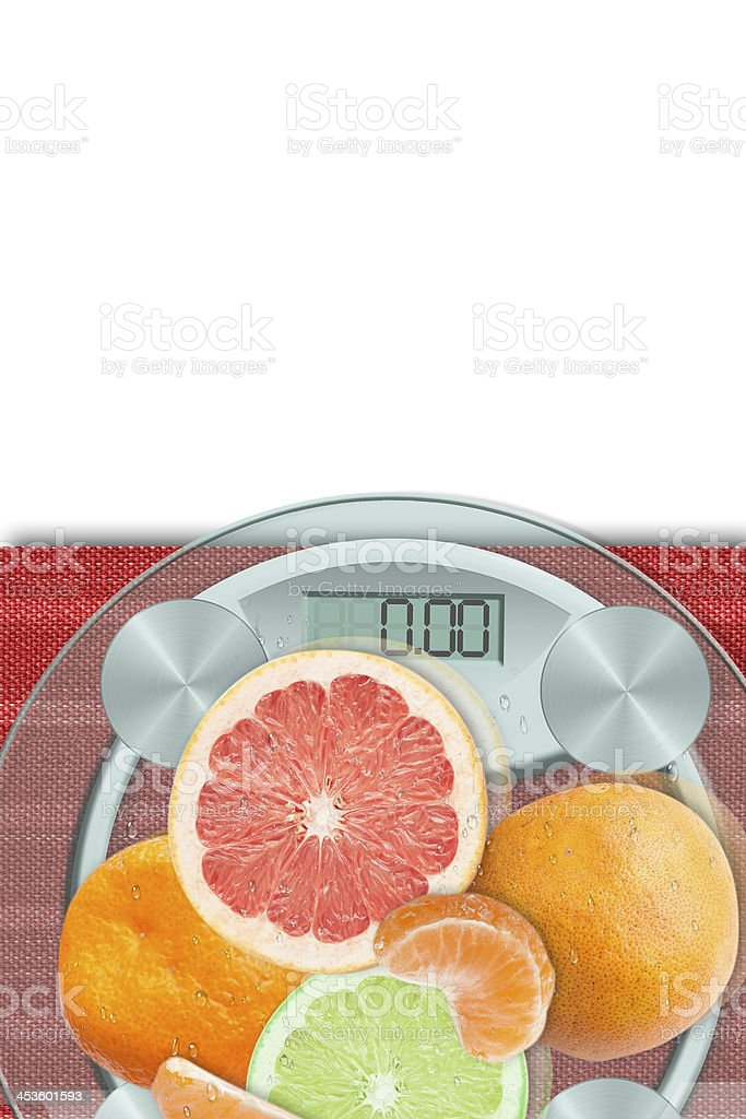 Concept of citrus diet royalty-free stock photo