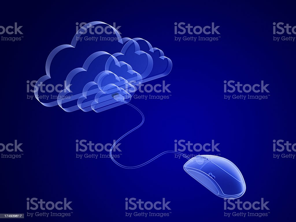 Concept of cloud computing stock photo
