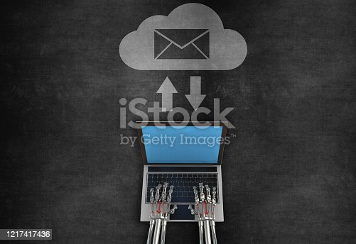 istock Concept of cloud technology 1217417436