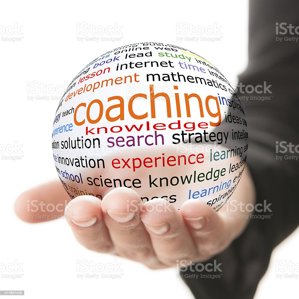 Concept of coaching in learning royalty-free stock photo