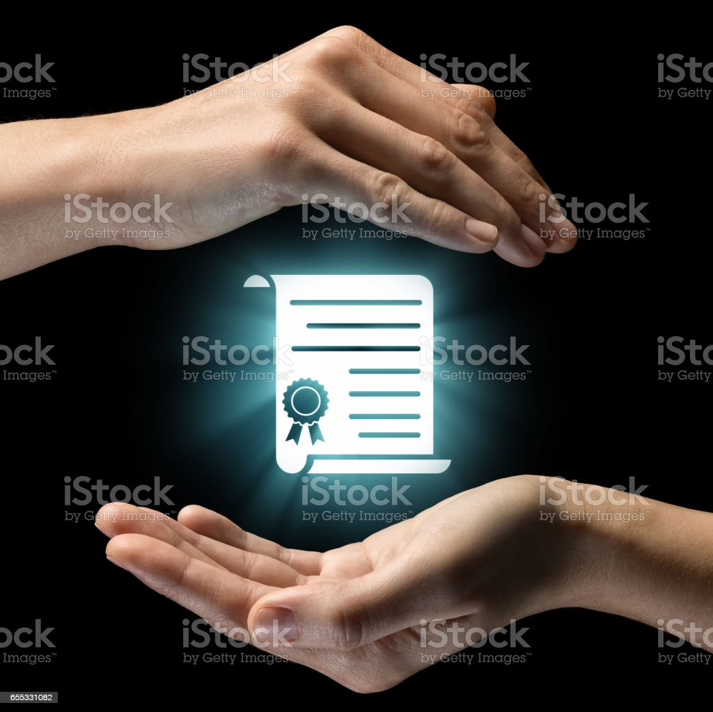 Concept of confidentiality, data protection. stock photo