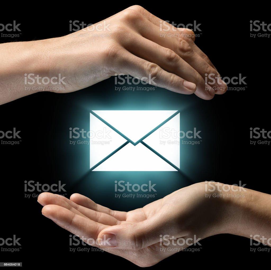 Concept of confidentiality of correspondence. stock photo