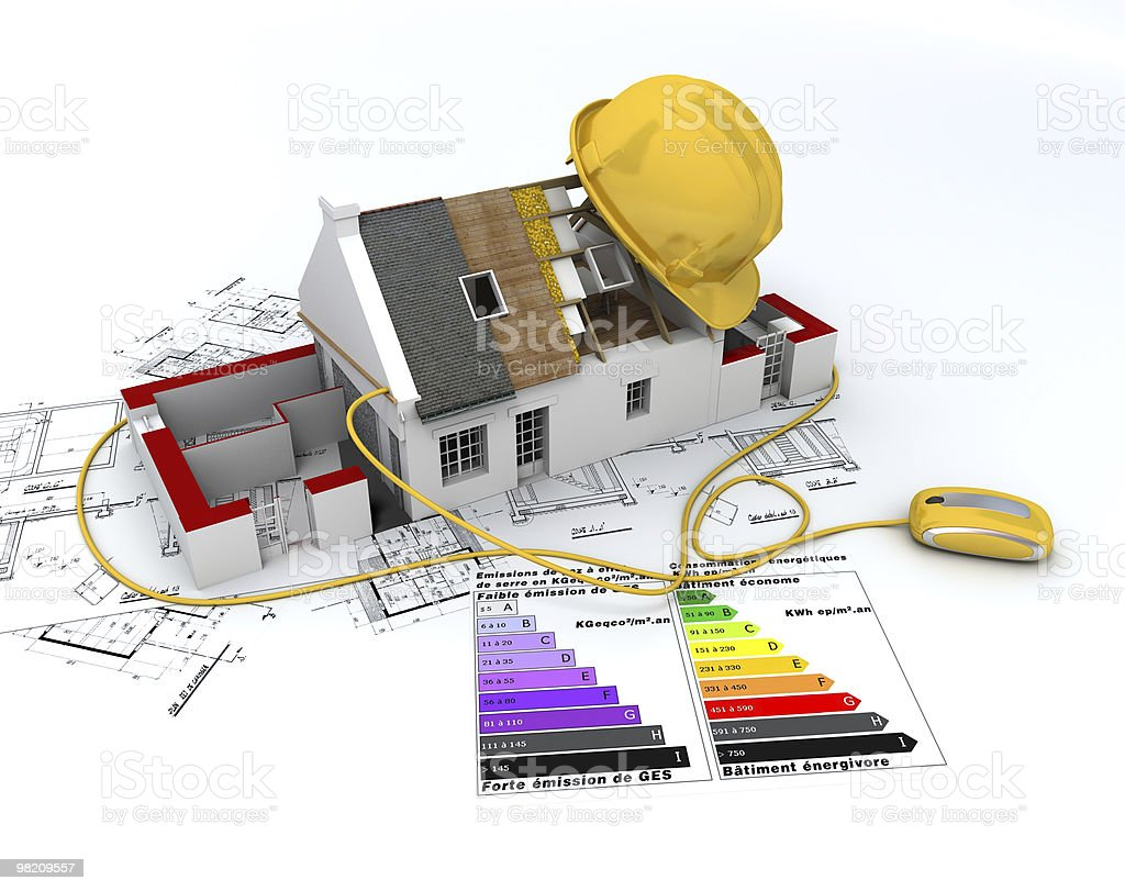 Concept of constructing an energy-efficient home royalty-free stock photo
