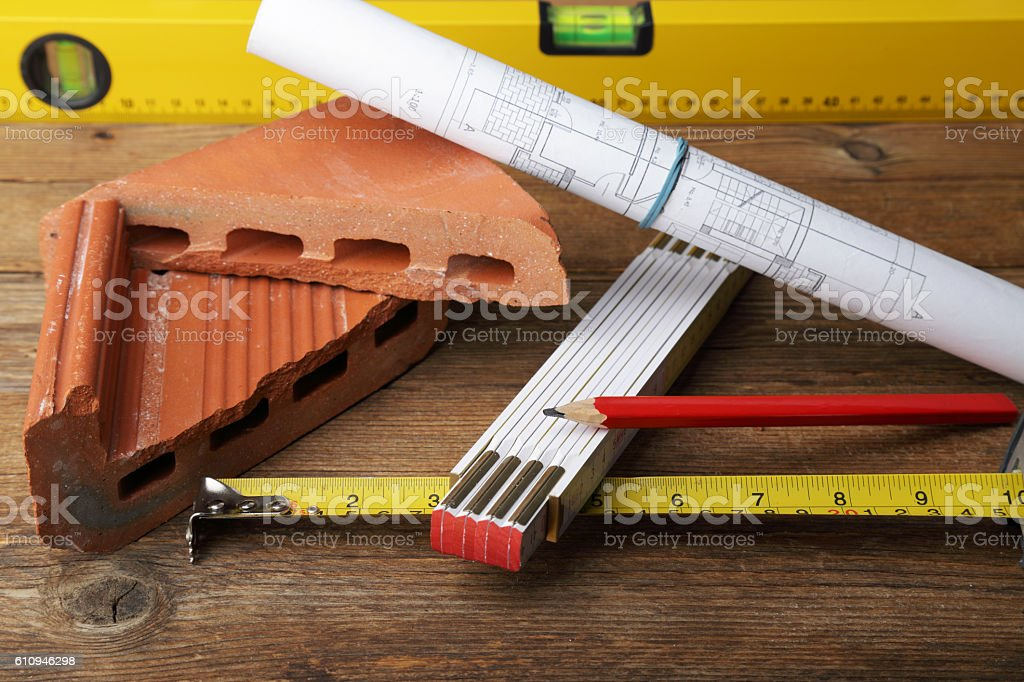 Concept of construction and building company stock photo
