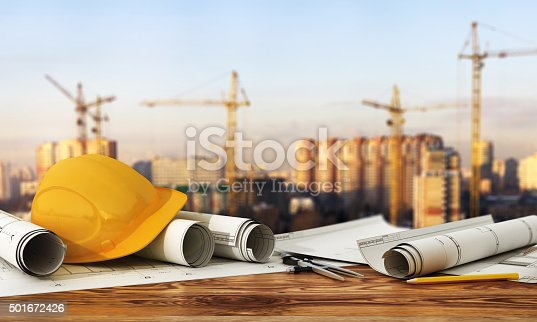 istock Concept of construction and design. 501672426