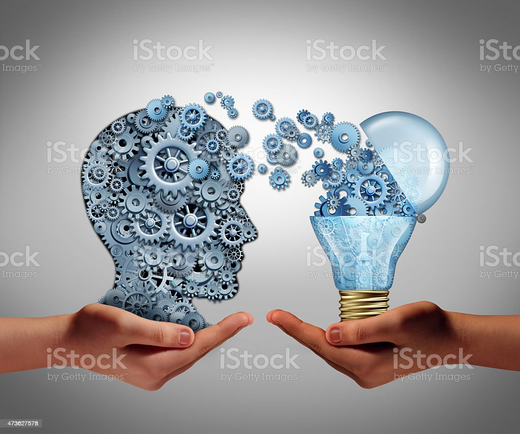 Concept Of Creating Ideas stock photo