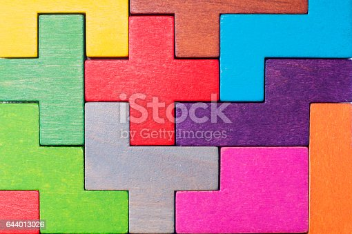 istock Concept of creative, logical thinking or problem solving. 644013026