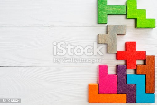 istock Concept of creative, logical thinking. 644013004