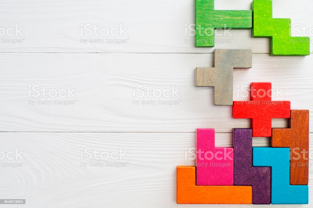 Concept of creative, logical thinking. stock photo