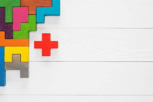 Concepto de pensamiento creativo y lógico. - foto de stock