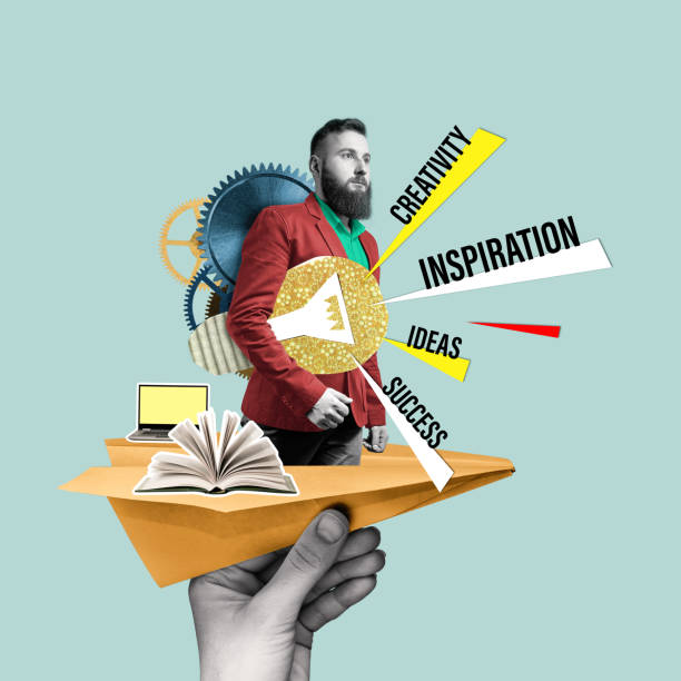 Concept of creativity, inspiration, ideas. stock photo