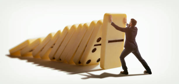 Concept of crisis management. stock photo