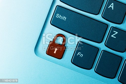 istock Concept of cyber security. 1165401978