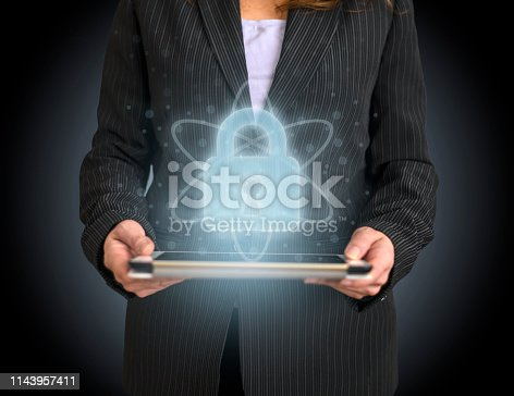 913017342 istock photo Concept of data protection, confidential, network security in web 1143957411