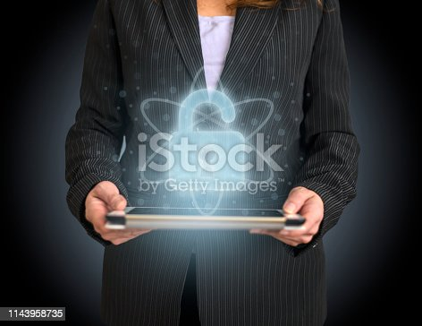 913017342 istock photo Concept of data protection, confidential, network security in web 1143958735