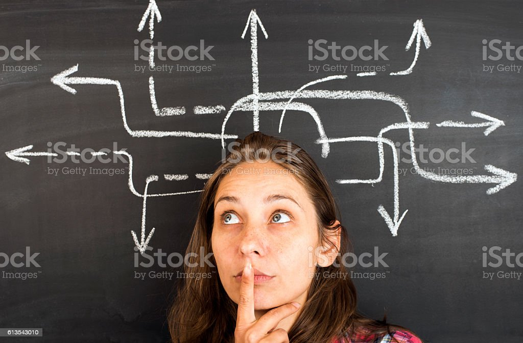 Concept of decision making stock photo