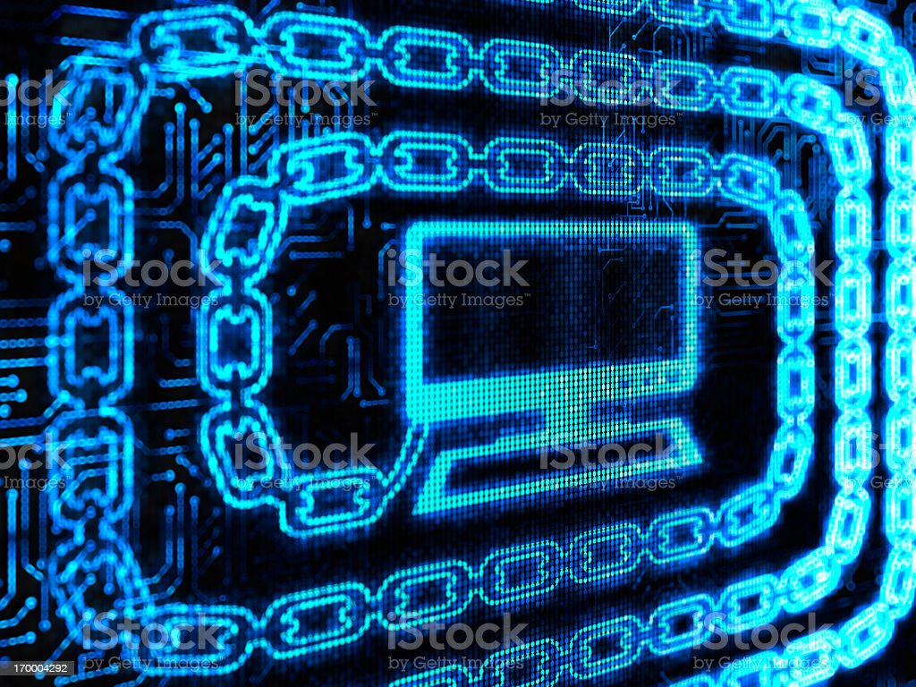 Concept of digital information chain royalty-free stock photo