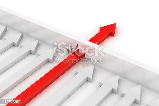 istock Concept of Don't stop with red arrow breaking the boundary 182707297
