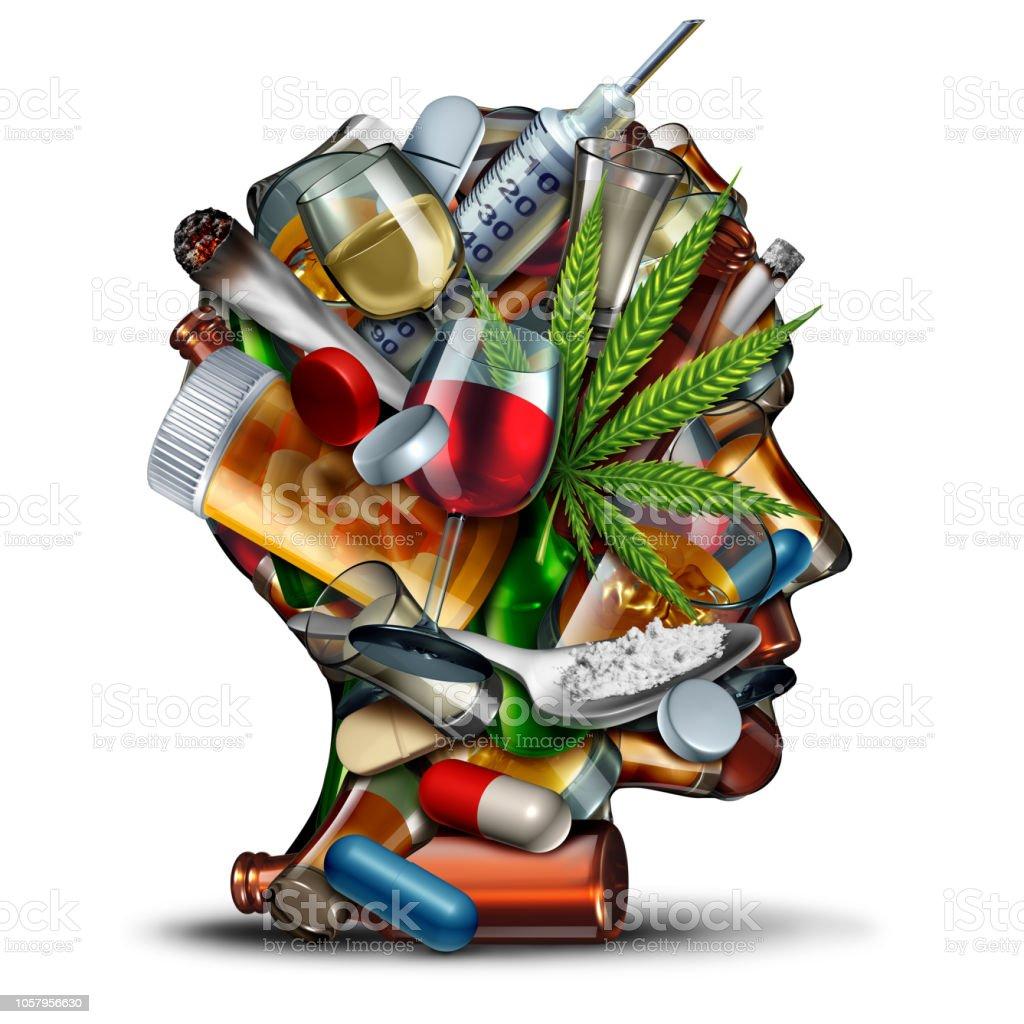 Concepto de adicción a las drogas - foto de stock