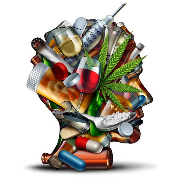 concept of drug addiction - droghe ricreative foto e immagini stock