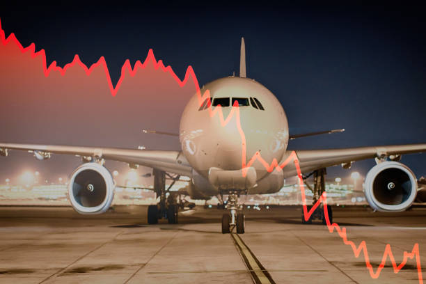 Konzept der Wirtschaftskrise in der Luftfahrtindustrie – Foto