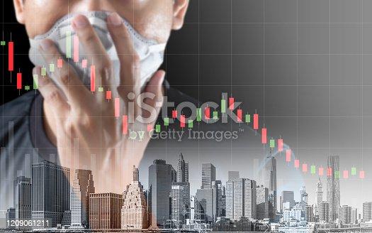 istock Concept of economic recession during the coronavirus crisis 1209061211