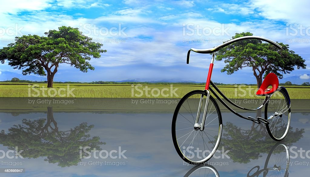 concept of electric bike royalty-free stock photo