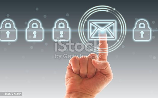 873468774 istock photo Concept of email protection 1193775962