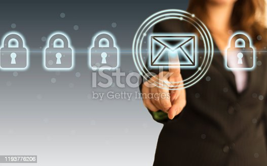 873468774 istock photo Concept of email protection 1193776206