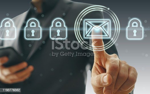 873468774 istock photo Concept of email protection 1193776352