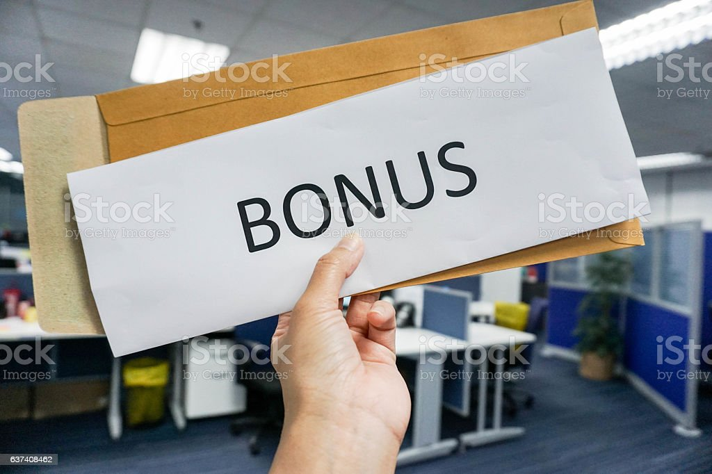 concept of employee bonus - Foto stock royalty-free di Adulto