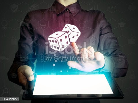 istock Concept of entertainment, gambling, fortune. 664055658