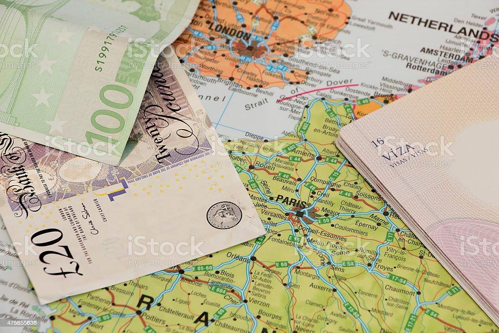 Concept of Europe travel stock photo
