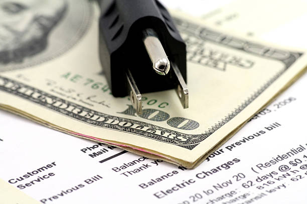 concept of expensive energy bill stock photo
