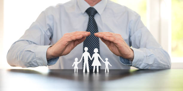Concept of family insurance stock photo