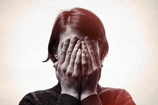 istock Concept of fear,shame, domestic violence. 865824506