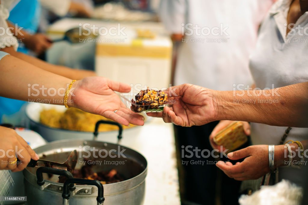 Concept Of Food Sharing For The Poor To Alleviate Hunger