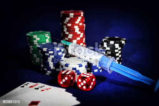 Concept photo of betting addiction