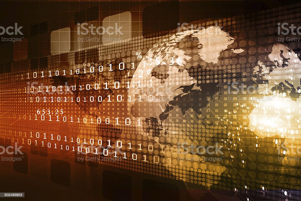 concept of global business stock photo