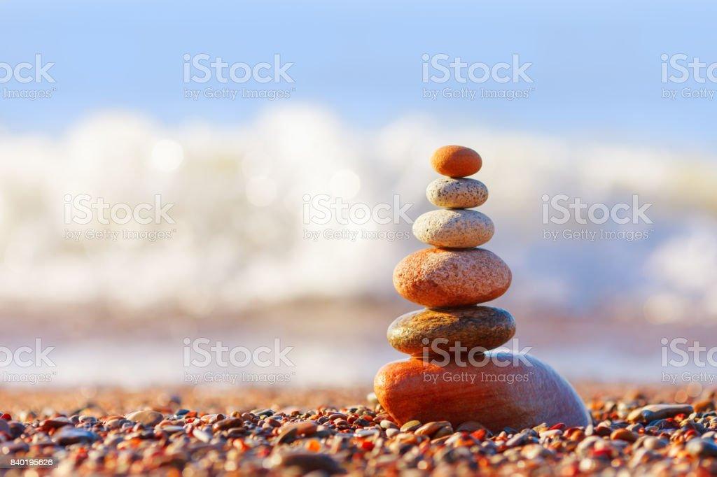 Konzept der Harmonie und Ausgeglichenheit. Abends Ruhe – Foto