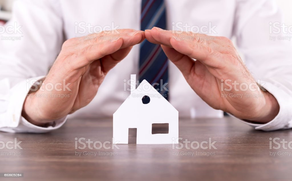 Concept of home insurance stock photo