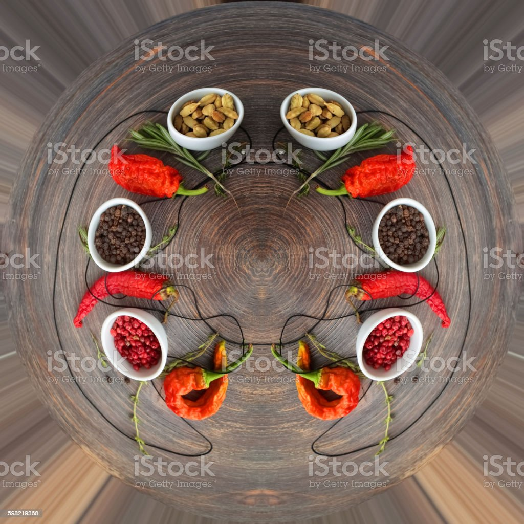 Concept of hot spice cuisine and seasoning foto royalty-free