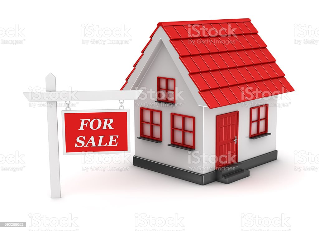 Concept of house for sale royaltyfri bildbanksbilder