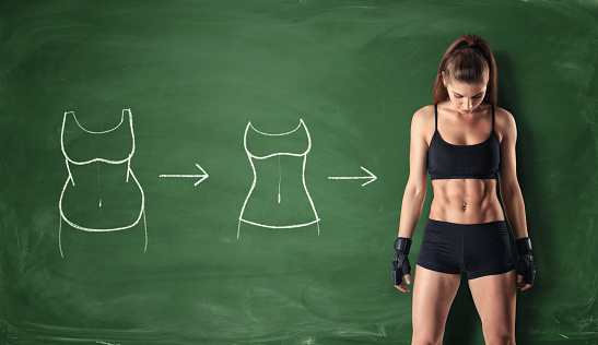 istock Concept of how a girl's body changing 608004758