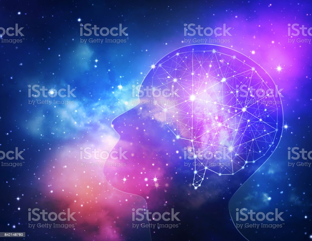 Concept of human intelligence. stock photo