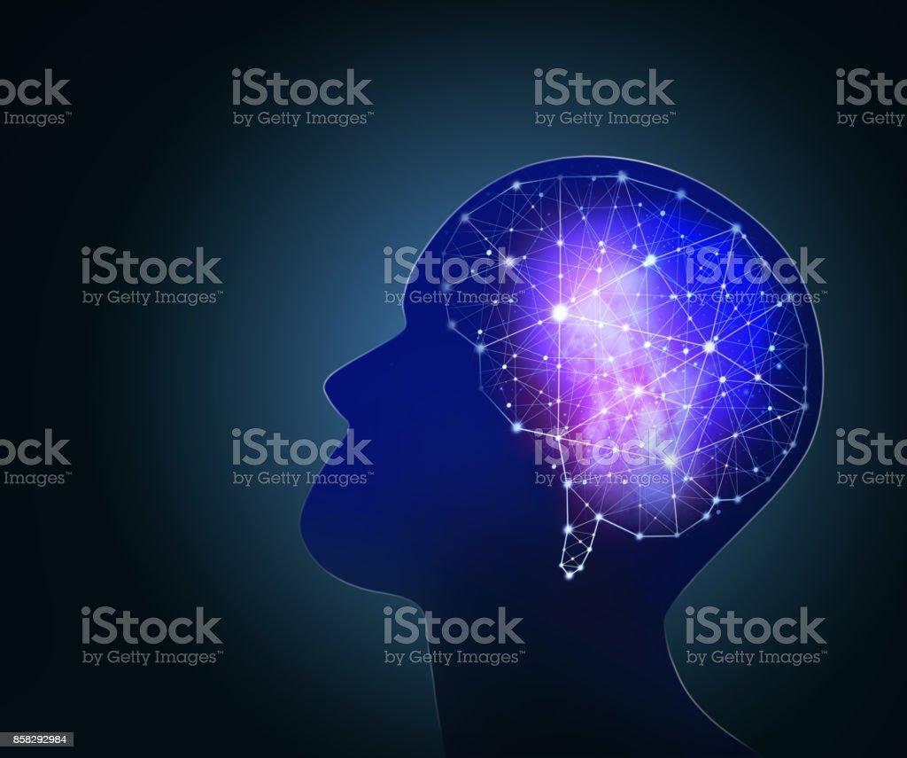 Concept of human intelligence. stock photo
