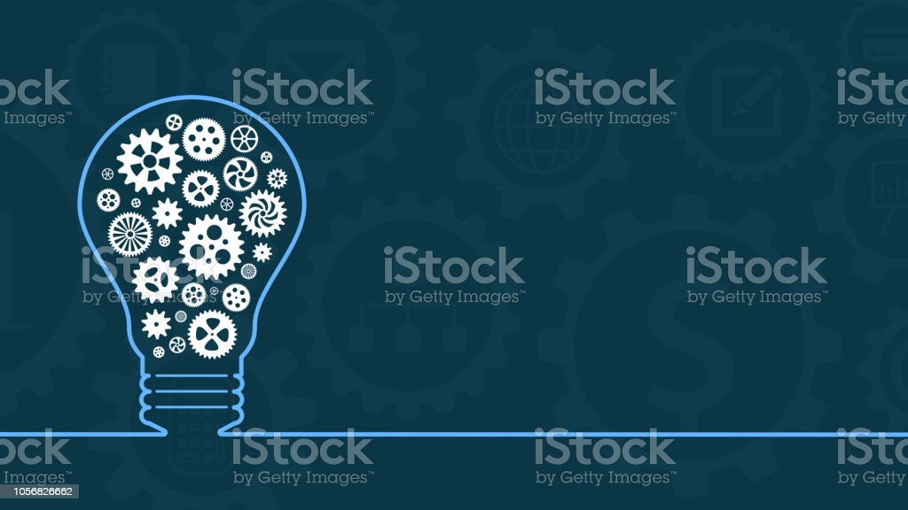 concept of idea and solution stock photo