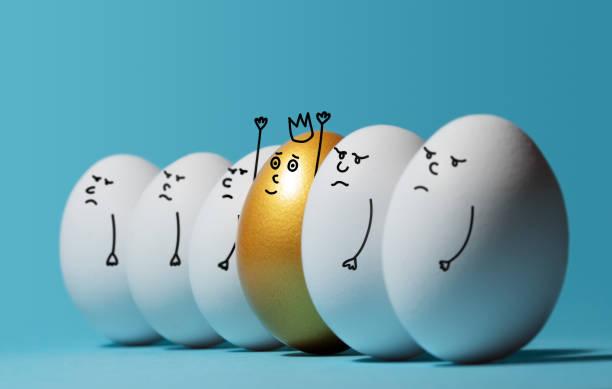 Concepto de individualidad, exclusividad, la mejor opción y ganar. - foto de stock