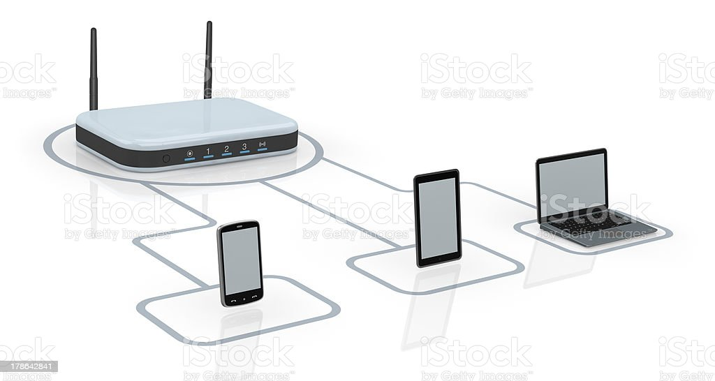 concept of internet network royalty-free stock photo