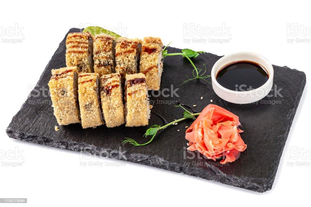 Photo libre de droit de Concept De Cuisine Japonaise Rouleau ...